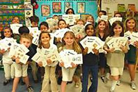 Binks Forest Students with books they made