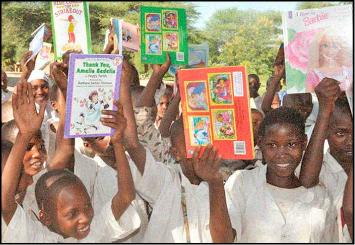kids show off their new books